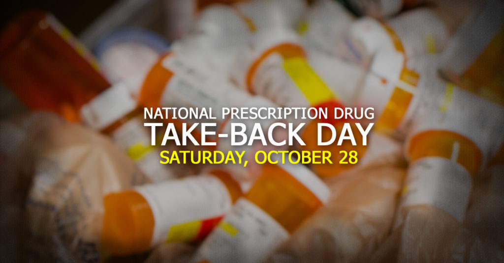 National Prescription Drug Take-Back Day Is Oct. 28